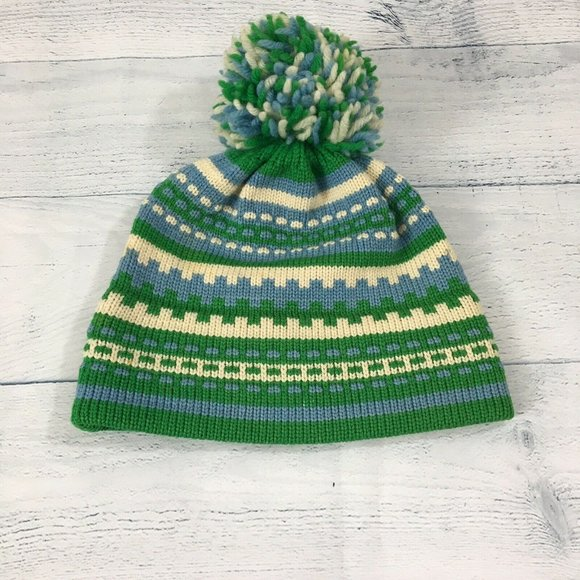 Jay Hats WARM Winter Wool Beanie Knitted Cap Green